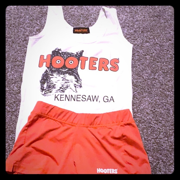 Hooters Other - Authentic Hooter girl uniform in orange and white
